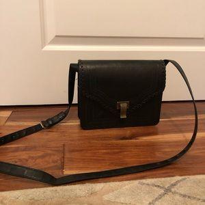 Faux Leather Crossbody Black Bag